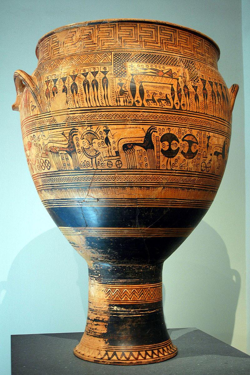 ギリシア美術 後期幾何学様式アンフォラ