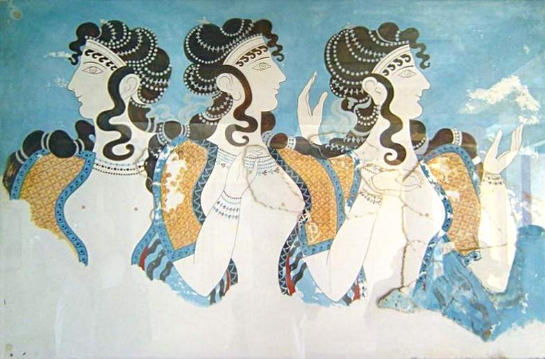 クノッソス宮殿 ミノア女性