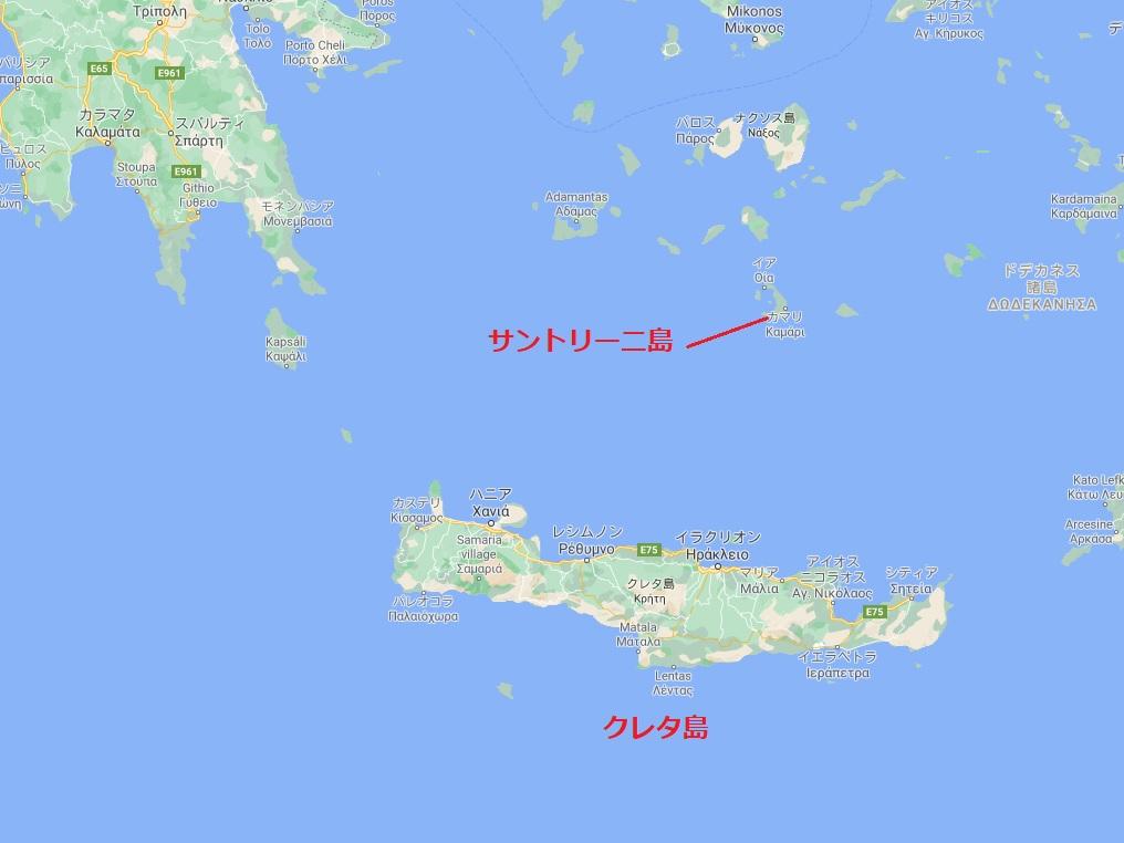 クレタ島 サントリーニ島
