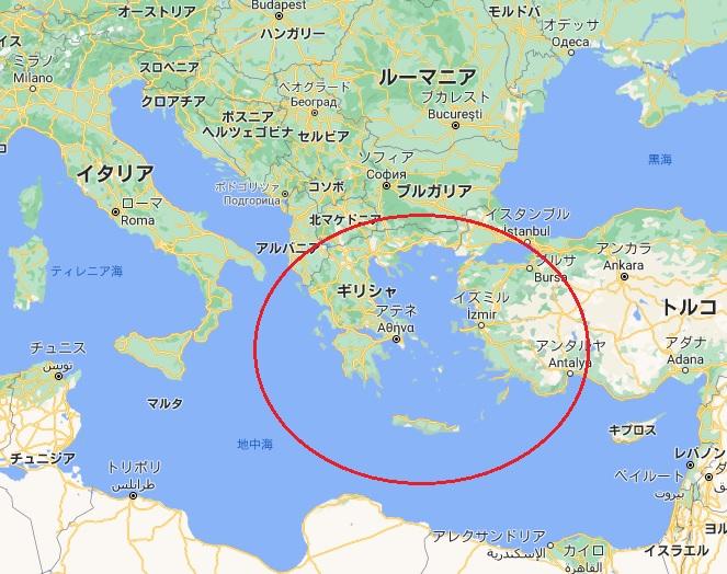 地中海 地図