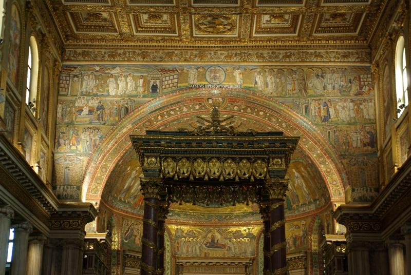 サンタマリアマッジョーレ大聖堂 凱旋門のモザイク