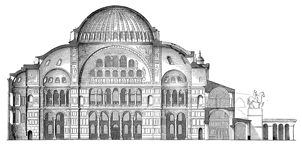 アハ・ソフィア大聖堂 断面図
