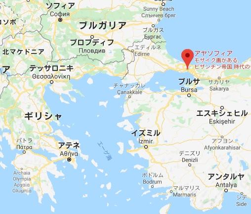 アヤ・ソフィア大聖堂 地図