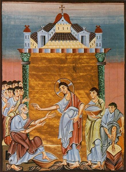 ペテロの足を洗うキリスト オットー三世の福音書