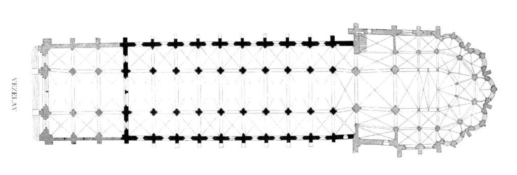 サント=マドレーヌ大聖堂 平面図