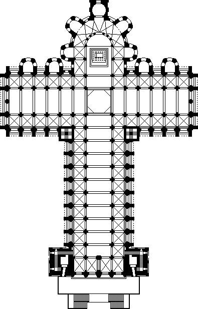 サンティアーゴ教会 平面図