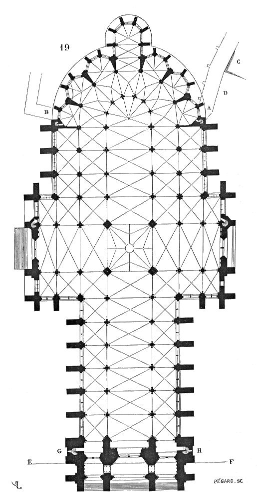 アミアン大聖堂 平面図