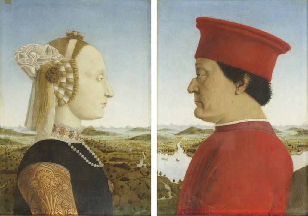 ピエロ・デッラ・フランチェスカ_ウルヴィーノ侯爵夫妻の肖像