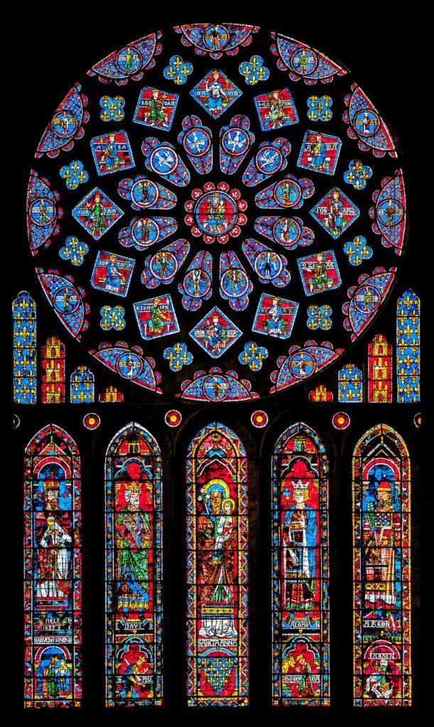 シャトル大聖堂 北のバラ窓