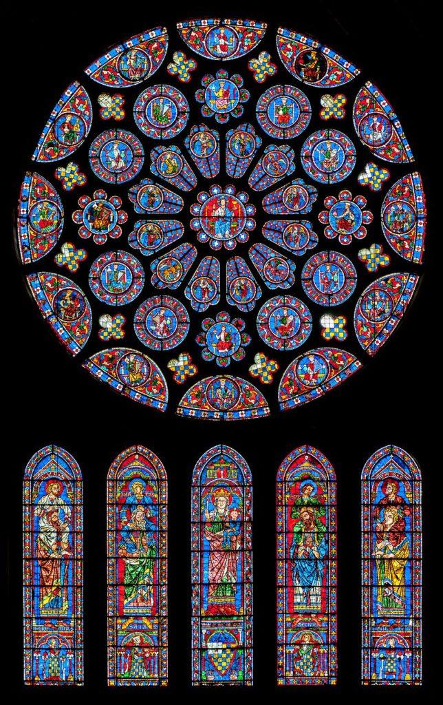 シャトル大聖堂 南のバラ窓