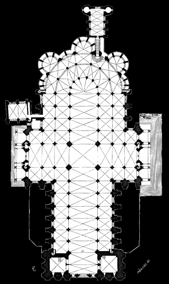 シャトル大聖堂 平面図