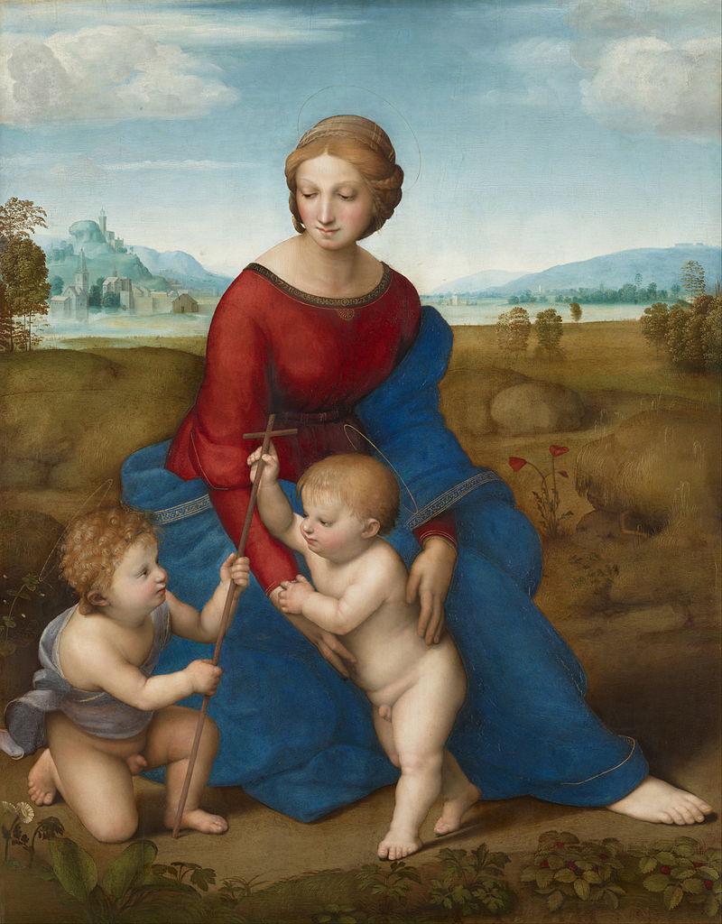 ラファエロ 牧場の聖母