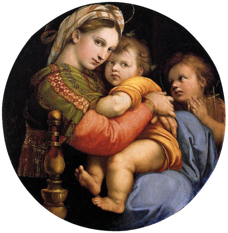 ラファエロ 小椅子の聖母