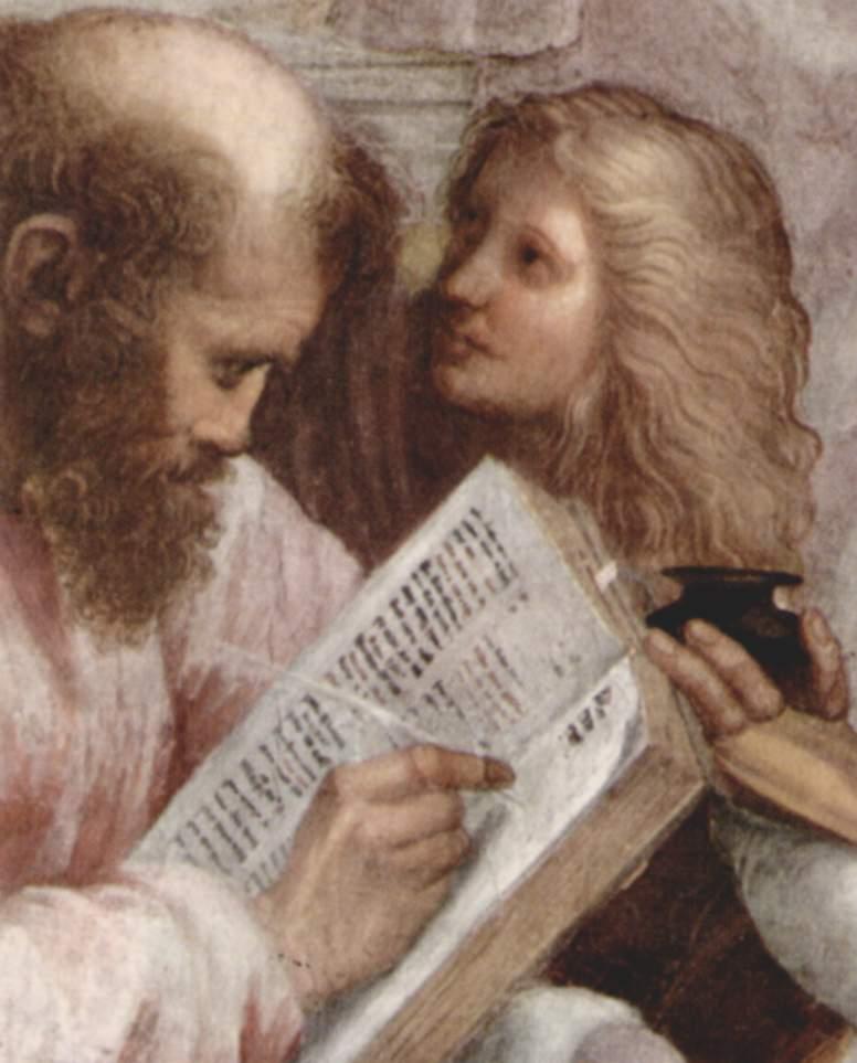 アテネの学堂 ピタゴラスとアルキメデス