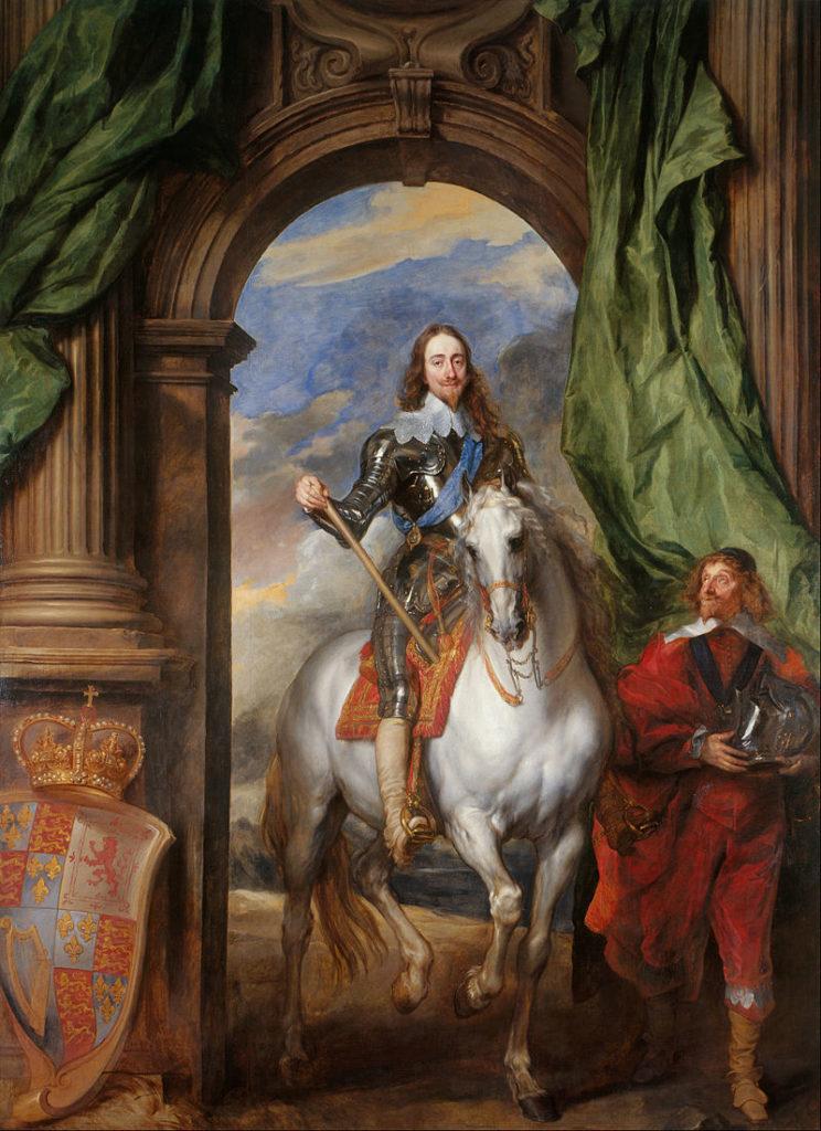 ヴァン・ダイク 馬上のチャールズ1世とサン・アントワープの領主の肖像