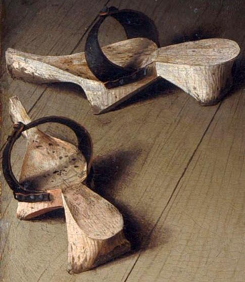 ヤン・ファン・エイク アルノルフィーニ夫妻の肖像 サンダル