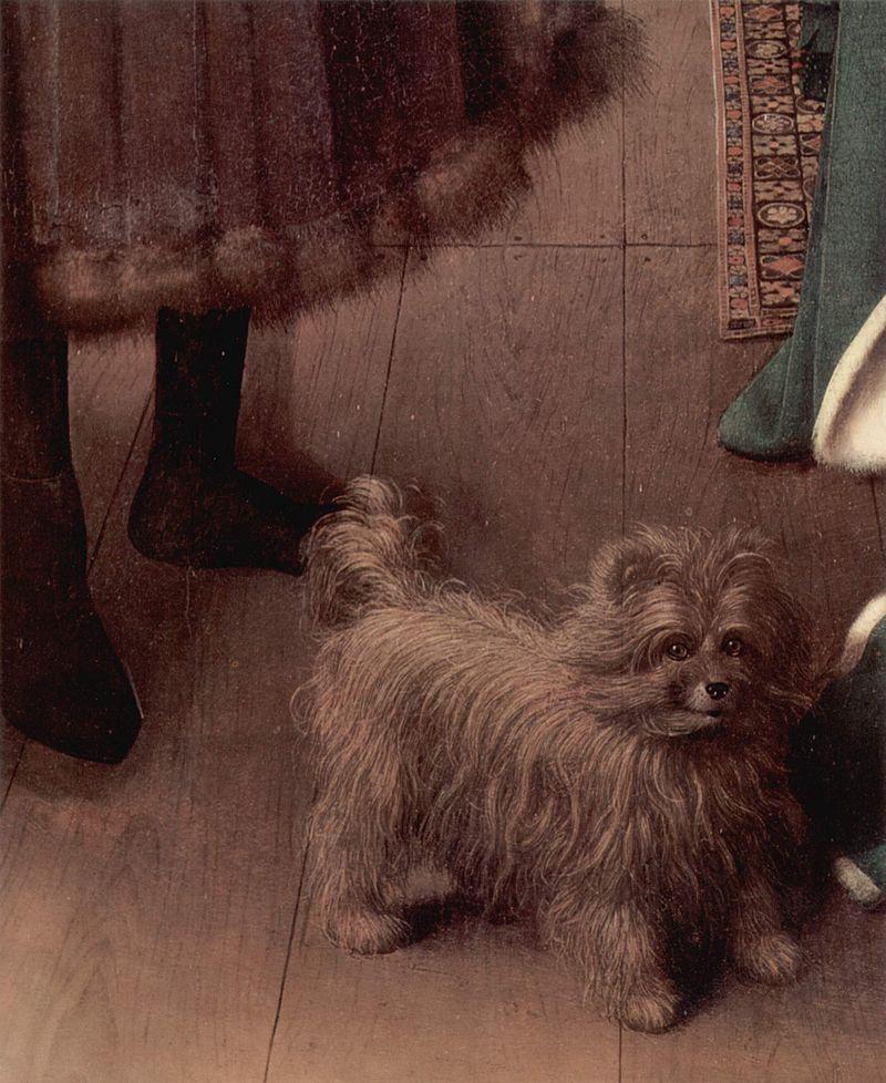 ヤン・ファン・エイ アルノルフィーニ夫妻の肖像 犬