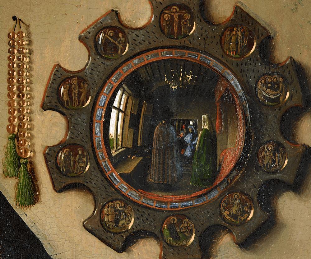 ヤン・ファン・エイク アルノルフィーニ夫妻の肖像 鏡