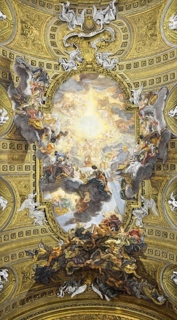 バチッチャ イエスの御名の勝利 イル・ジェズ聖堂