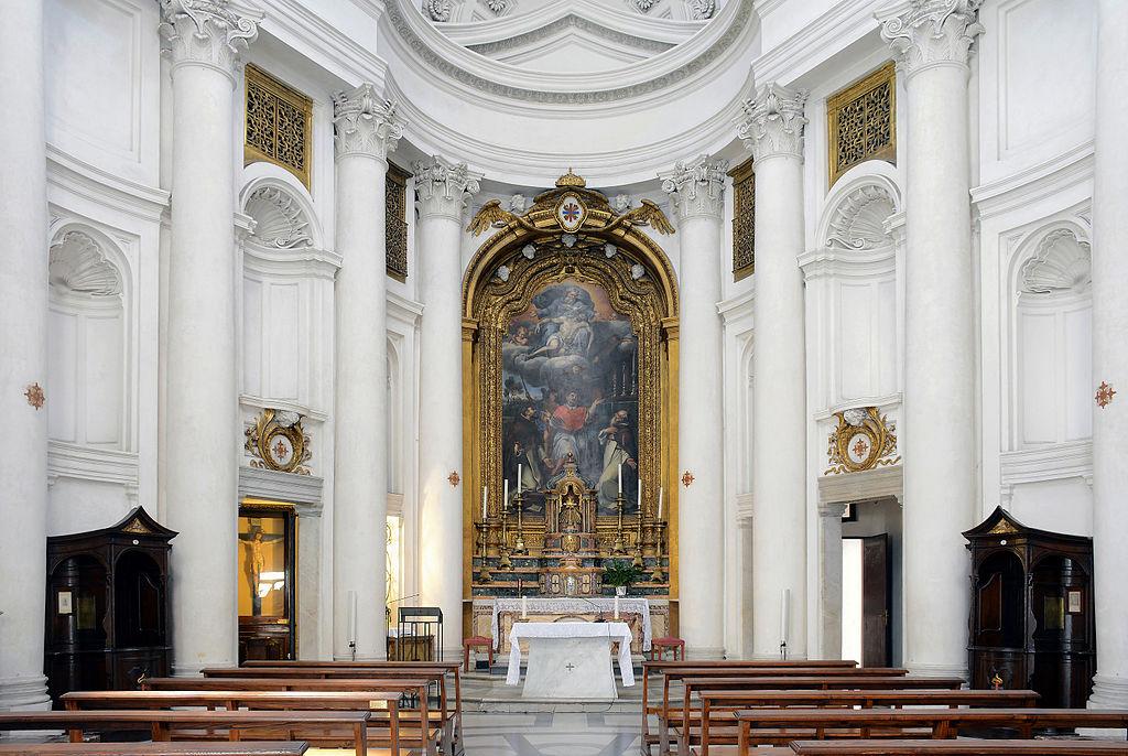ボッロミーニ サン・カルロ・アッレ・クァットロ・フォンターネ聖堂 インテリア