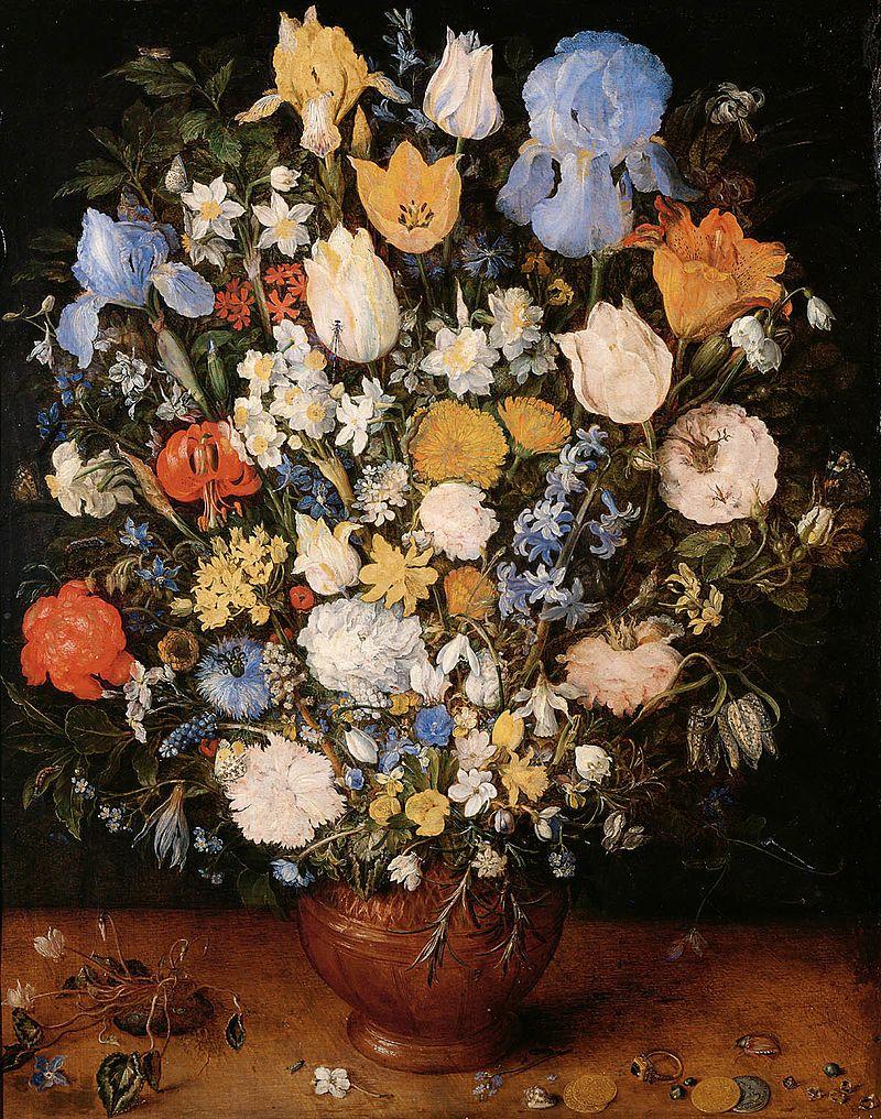 ヤン・ブリューゲル 小さな壺の花束