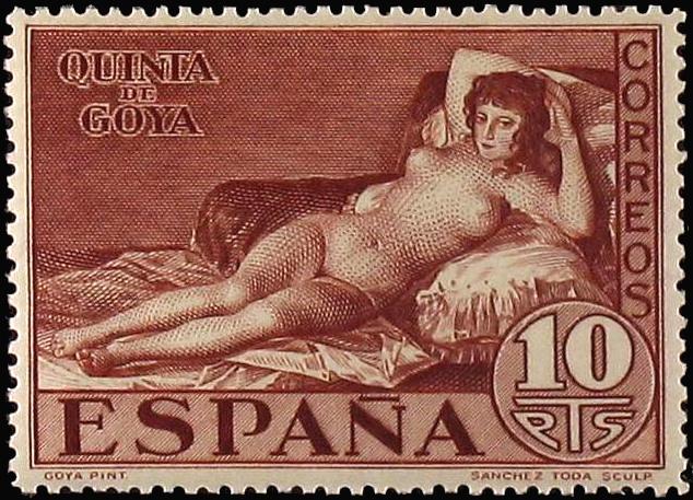 ゴヤ 裸のマハ スペイン切手