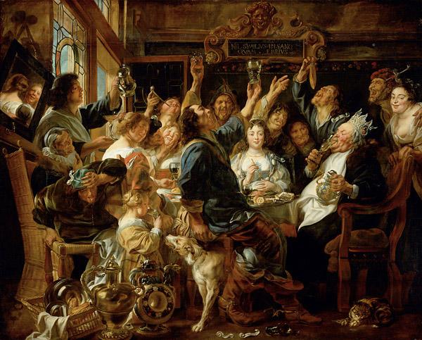 ヨルダーンス 豆の王様の祝宴
