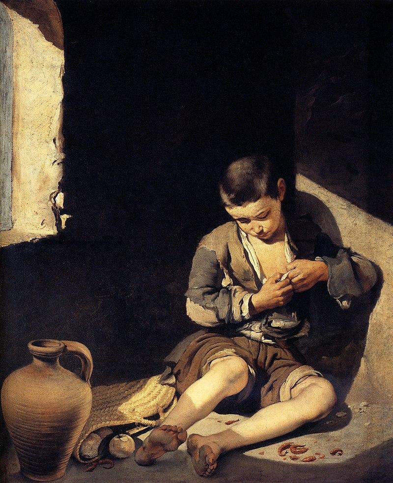 ムリーリョ 蚤をとる少年 乞食の少年
