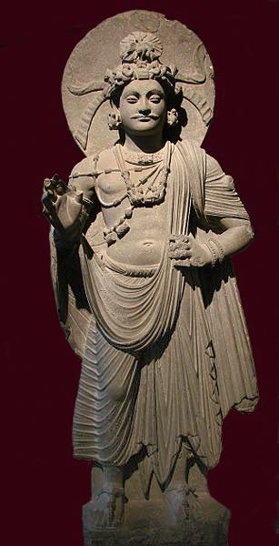 ガンダーラ 仏像 菩薩立像
