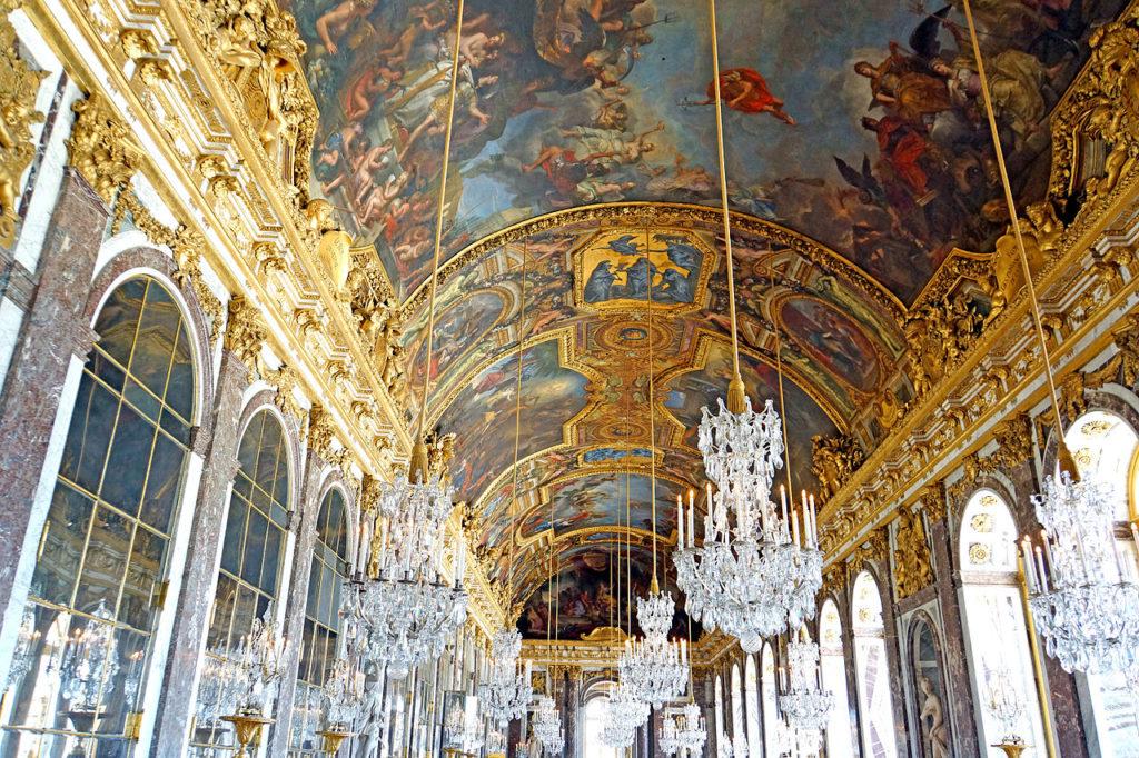 ベルサイユ宮殿 鏡の間 天井画 ル・ブラン
