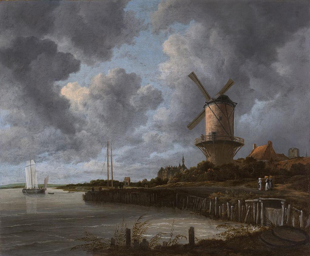 ライスダール ウェイク・ベイ・デュールステーデの風車