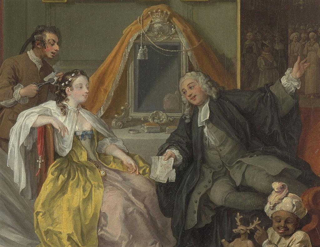 ホガース 当世風の結婚 化粧の間 詳細