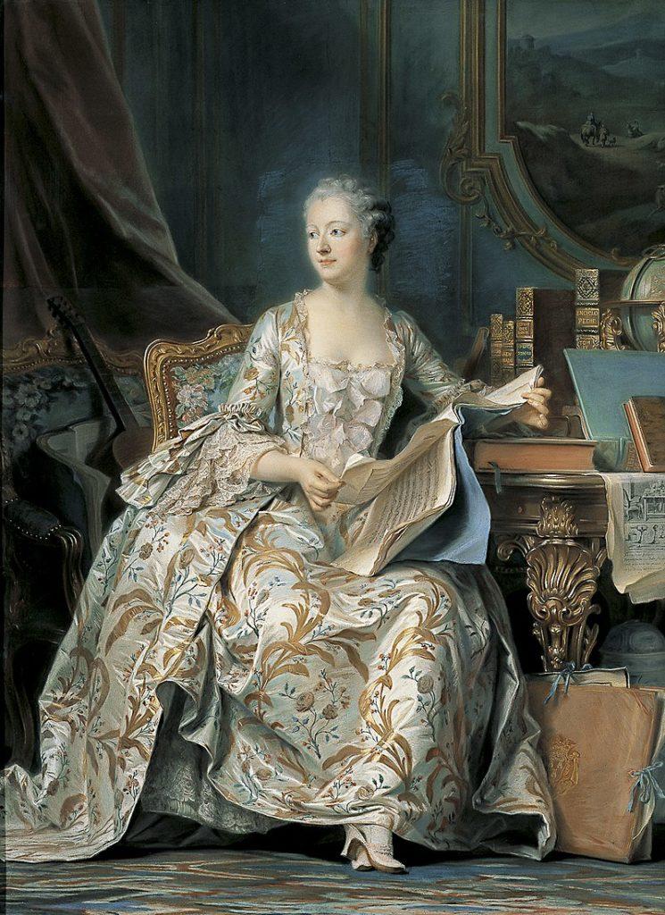 ポンパドゥール夫人の肖像 モーリス・カンタン・ド・ラ・トゥール